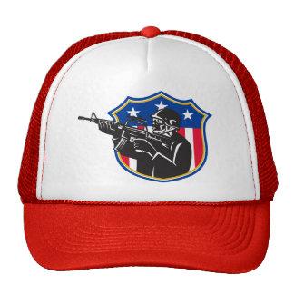 protetor do rifle do polícia do golpe do soldado boné