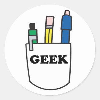 Protetor engraçado do bolso do GEEK Adesivo