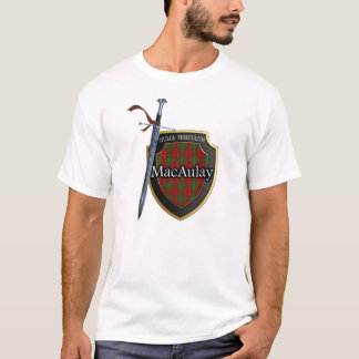 Protetor & espada escoceses do Tartan de MacAulay Camiseta