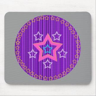 Protetor roxo da estrela mouse pad