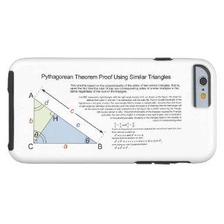 Prova do teorema pitagórico usando triângulos simi capa tough para iPhone 6