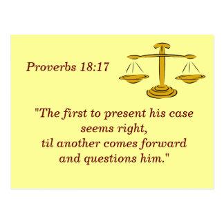 Provérbio 18 cartão de memória de 17 escrituras