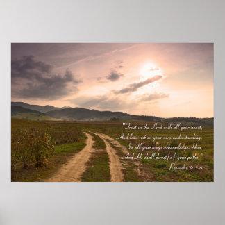 Provérbio 3; 5-6 - Poster inspirado