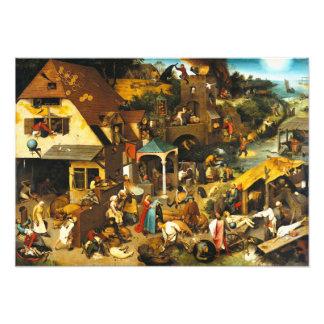 Provérbio de Pieter Bruegel Netherlandish Impressão De Foto