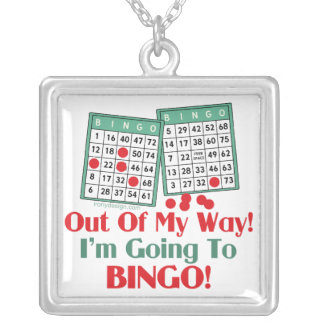 Provérbio engraçado do Bingo Colar Banhado A Prata
