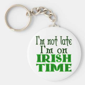 Provérbio engraçado do tempo irlandês chaveiro