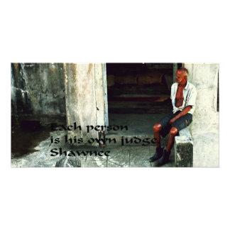 Provérbio indiano americano antigo cartão com foto