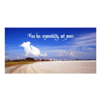 Provérbio indiano americano cartão com foto