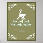 Provérbio polonês posteres