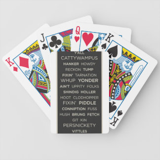 Provérbios do sul cartas de baralhos