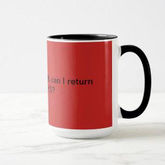 Provérbios engraçados vermelhos da caneca de café
