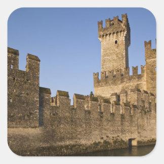 Província de Italia, Bríxia, Sirmione. Castello Adesivos Quadrados