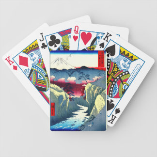 Província de Kai Japão da passagem de Inume 1858 Baralho Para Poker
