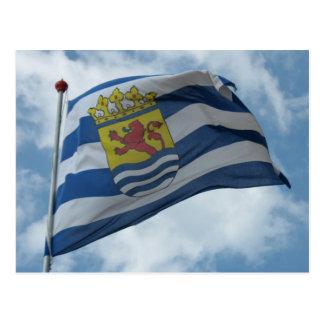 Província oficial do cartão com fotos da bandeira