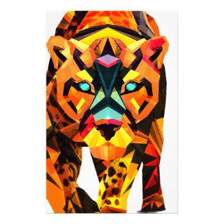 Prowl geométrico do tigre papelaria