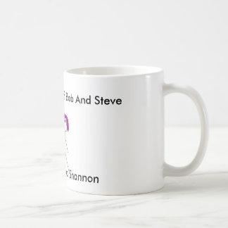 prumo steve e shannon, Steve, Bob, e Shannon,… Caneca De Café
