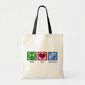 Psicologia do amor da paz bolsa tote