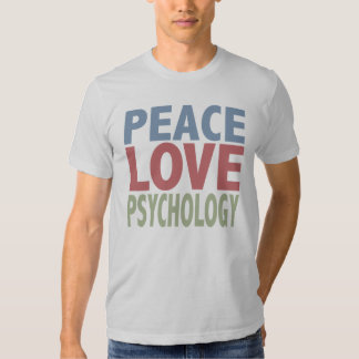 Psicologia do amor da paz t-shirt