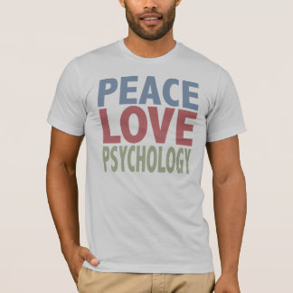 Psicologia do amor da paz t-shirt