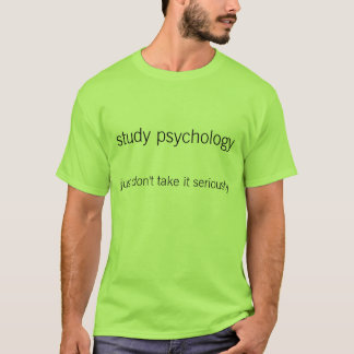 Psicologia do estudo camisetas