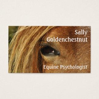 Psicologia eqüino do olho do cavalo cartão de visitas