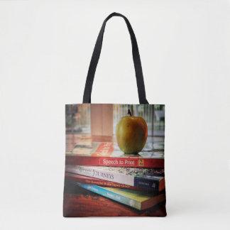 Psicólogo Apple da escola e sacola dos livros Bolsa Tote