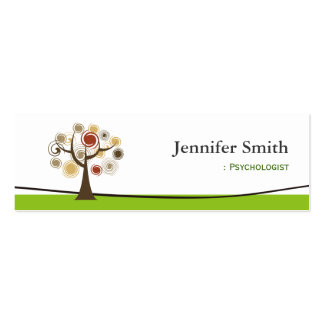 Psicólogo - árvore de vida elegante cartão de visita skinny
