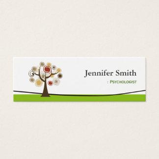 Psicólogo - árvore de vida elegante cartão de visitas mini