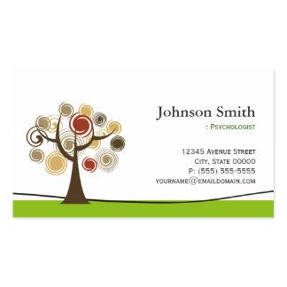 Psicólogo - árvore elegante do símbolo da vida cartão de visita