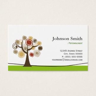 Psicólogo - árvore elegante do símbolo da vida cartão de visitas