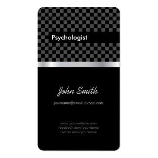 Psicólogo - Checkered preto elegante Cartão De Visita