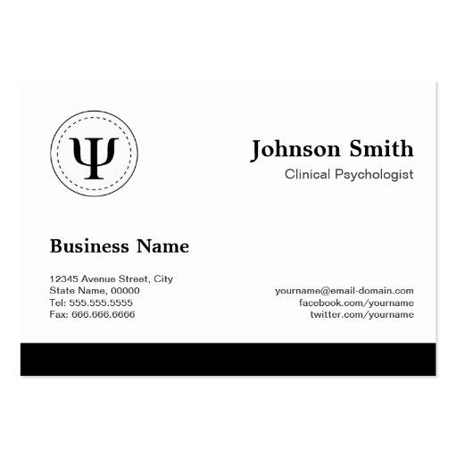 Psicólogo clínico - nomeação da psicologia cartão de visita