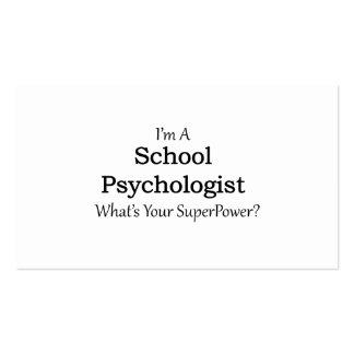 Psicólogo da escola cartão de visita