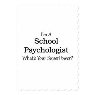 Psicólogo da escola convite 12.7 x 17.78cm
