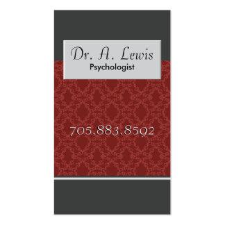 Psicólogo e cartão de visita médico - monograma