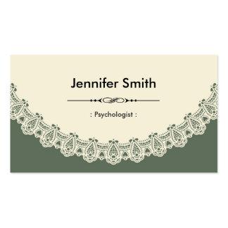 Psicólogo - laço chique retro modelo de cartões de visita
