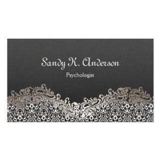 Psicólogo - laço elegante do damasco cartão de visita