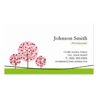 Psicólogo - logotipo de desejo cor-de-rosa bonito cartão de visita
