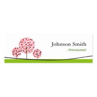 Psicólogo - logotipo de desejo cor-de-rosa bonito  cartão de visita skinny