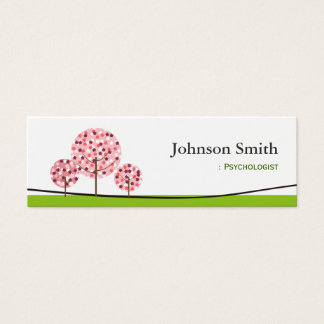 Psicólogo - logotipo de desejo cor-de-rosa bonito cartão de visitas mini