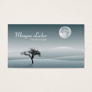 Psicólogo - lua e árvore da solidão cartão de visitas