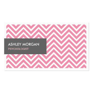 Psicólogo - luz - ziguezague cor-de-rosa de cartão de visita