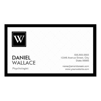Psicólogo - monograma moderno da grade cartão de visita