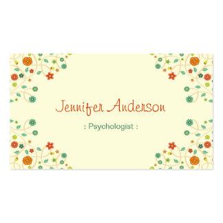 Psicólogo - na moda chique da natureza cartão de visita