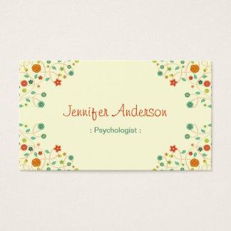 Psicólogo - na moda chique da natureza cartão de visitas