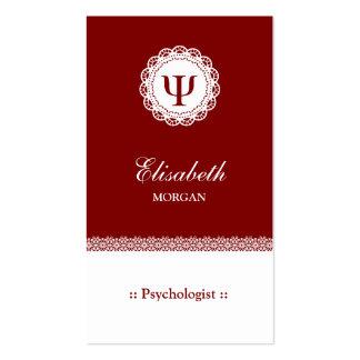 Psicólogo profissional - símbolo da libra por cartão de visita