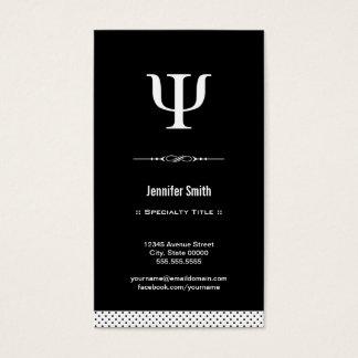 Psicólogo profissional - símbolo da libra por cartão de visitas