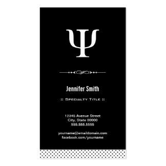 Psicólogo profissional - símbolo da libra por pole cartoes de visitas