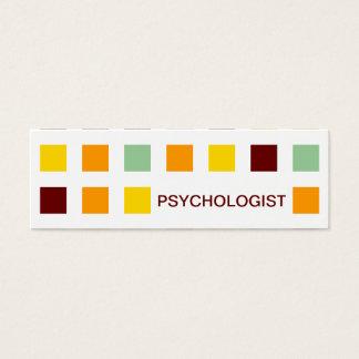 PSICÓLOGO (quadrados da modificação) Cartão De Visitas Mini