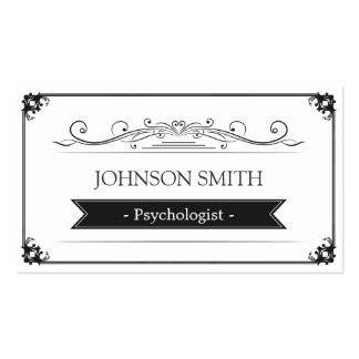 Psicólogo - quadro elegante do vintage cartão de visita